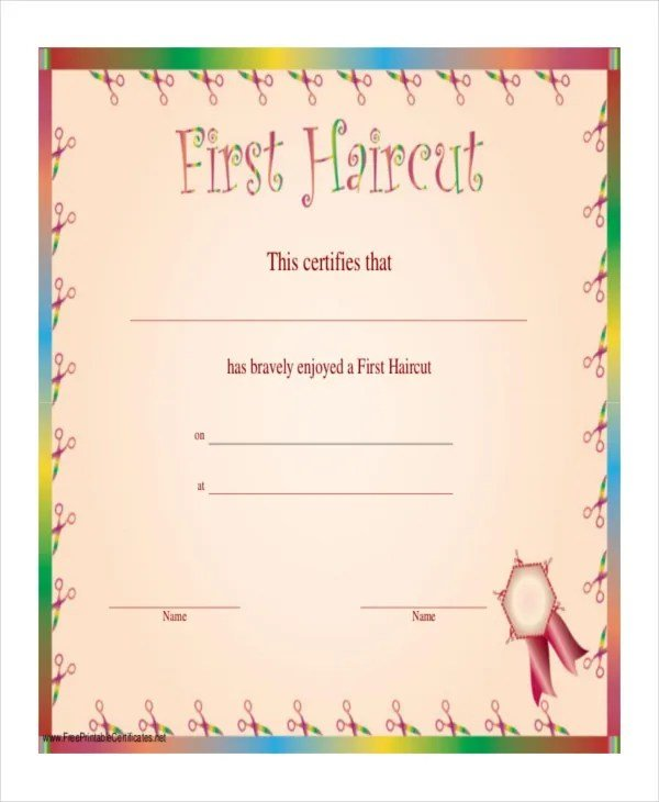 Free Haircut Certificate Template 7 Pdf Psd Word Indesign Documents Download Free Premium Wallpaper