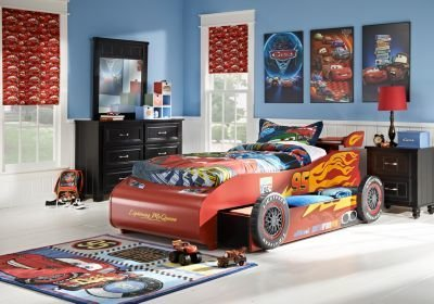Best Disney Cars Lightning Mcqueen Black 8 Pc Bedroom Disney With Pictures