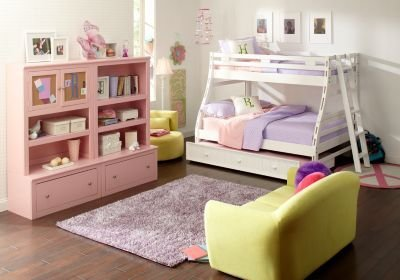 Best Creekside White Wash Twin Full Bunk Bedroom Girls With Pictures