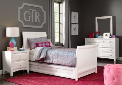 Best Ivy League White 6 Pc Full Sleigh Bedroom T**N Bedroom Sets Colors With Pictures