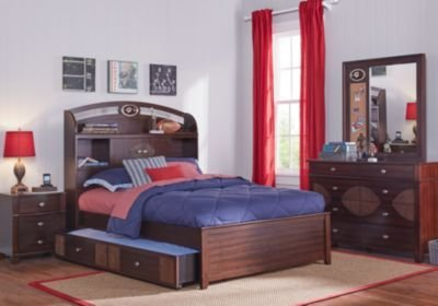 Best Nfl Playbook Espresso 5 Pc Full Bookcase Bedroom T**N With Pictures