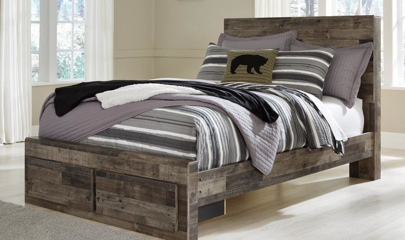 Best Ashley Derekson B200 Full Size Storage Bedroom Set 6Pcs Multi Gray Contemporary Ebay With Pictures