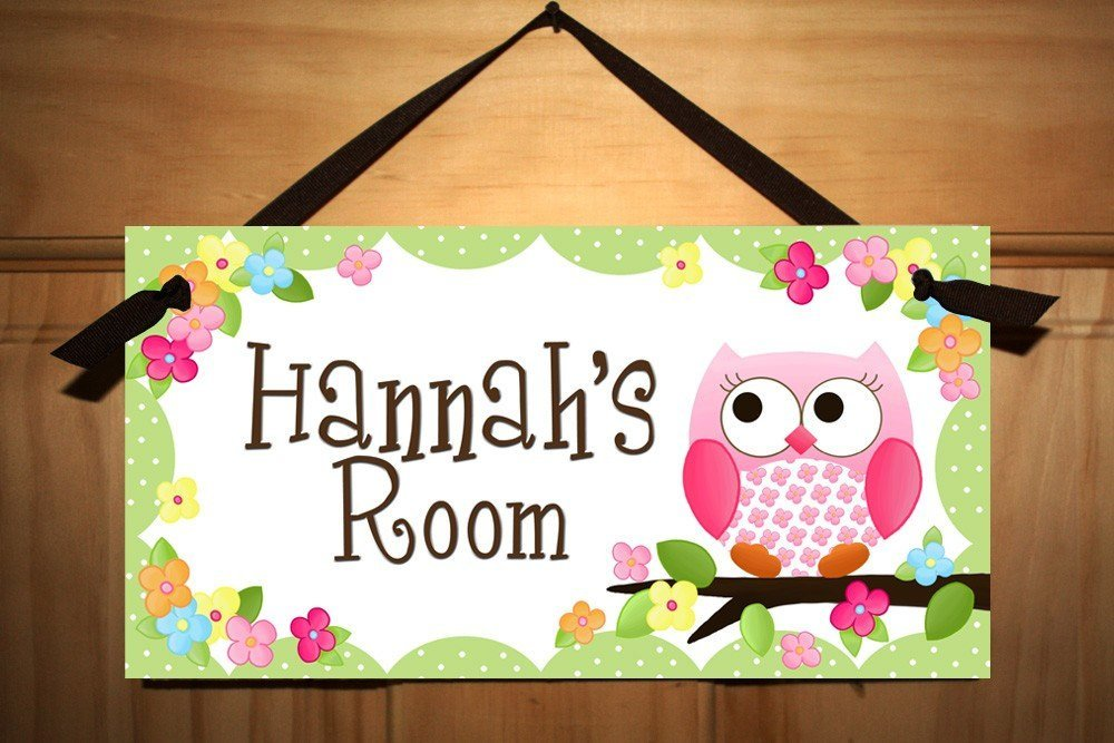 Best Door Sign Owls Love Flowers Girls Bedroom And Baby Nursery With Pictures