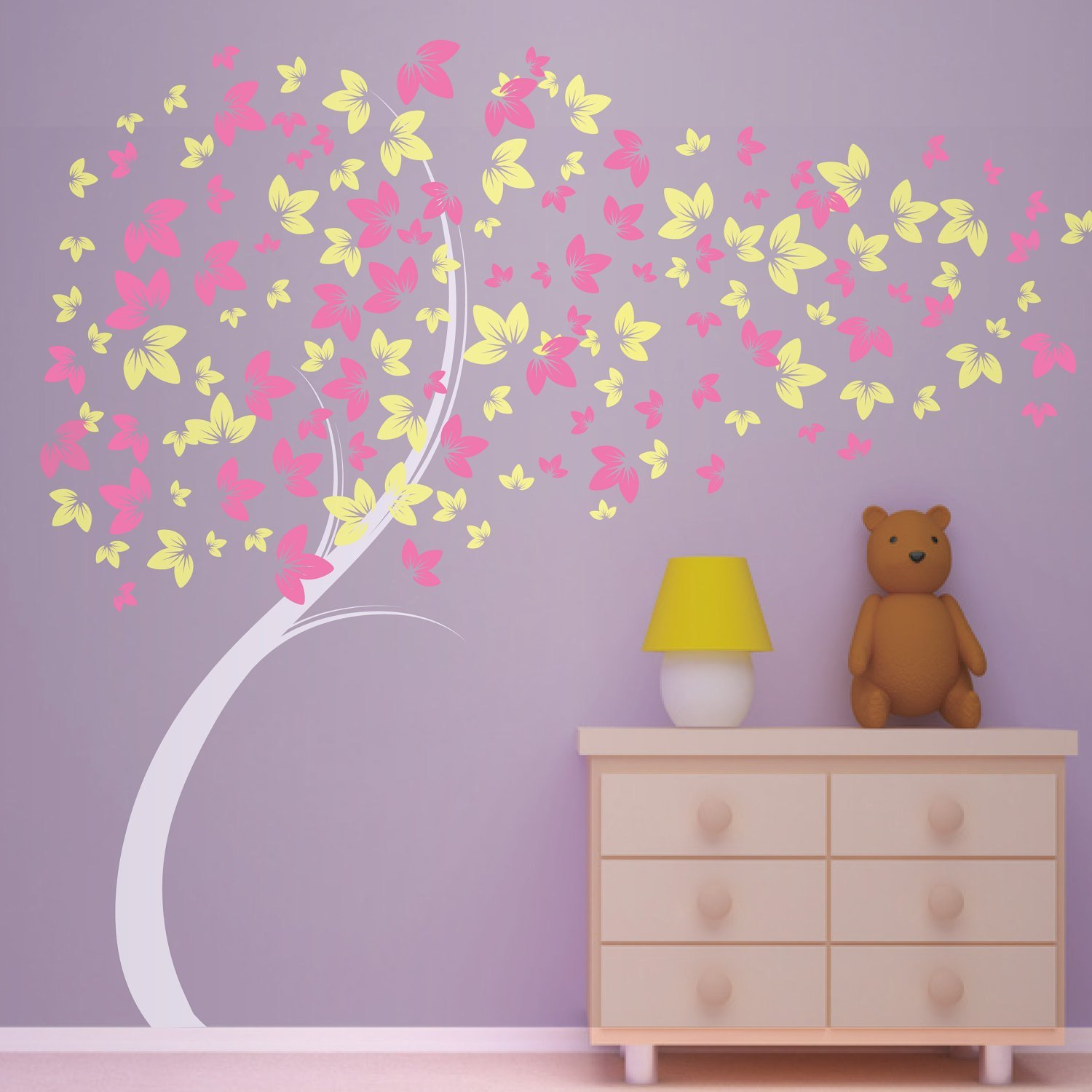 Best Curvy Blowing Tree Vinyl Wall Decal Great For Little With Pictures