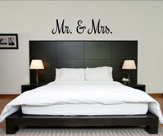Best Mr And Mrs Decal Mr And Mrs Wall Decal In Variety Of Fonts With Pictures