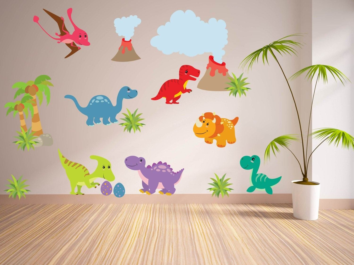 Best Wall Decals For Kidsbedroom Dinosaur Wall Decal Tree With Pictures