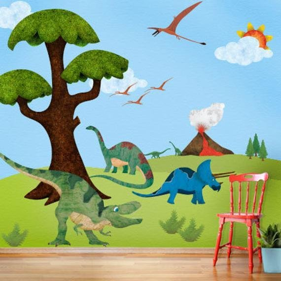 Best Dinosaur Wall Stickers Decals For Dinosaur Theme Room Wall With Pictures