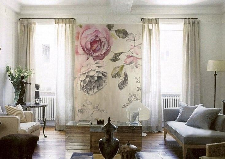 Best Vintage Rose Wallpaper Poetry Flowers Wall Decal Art Bedroom With Pictures