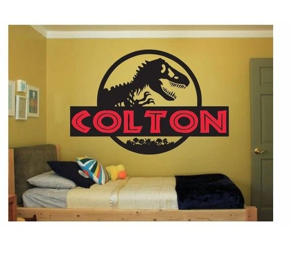 Best Dinosaur Name Wall Decal Sticker Large Kids Bedroom Big Fun With Pictures
