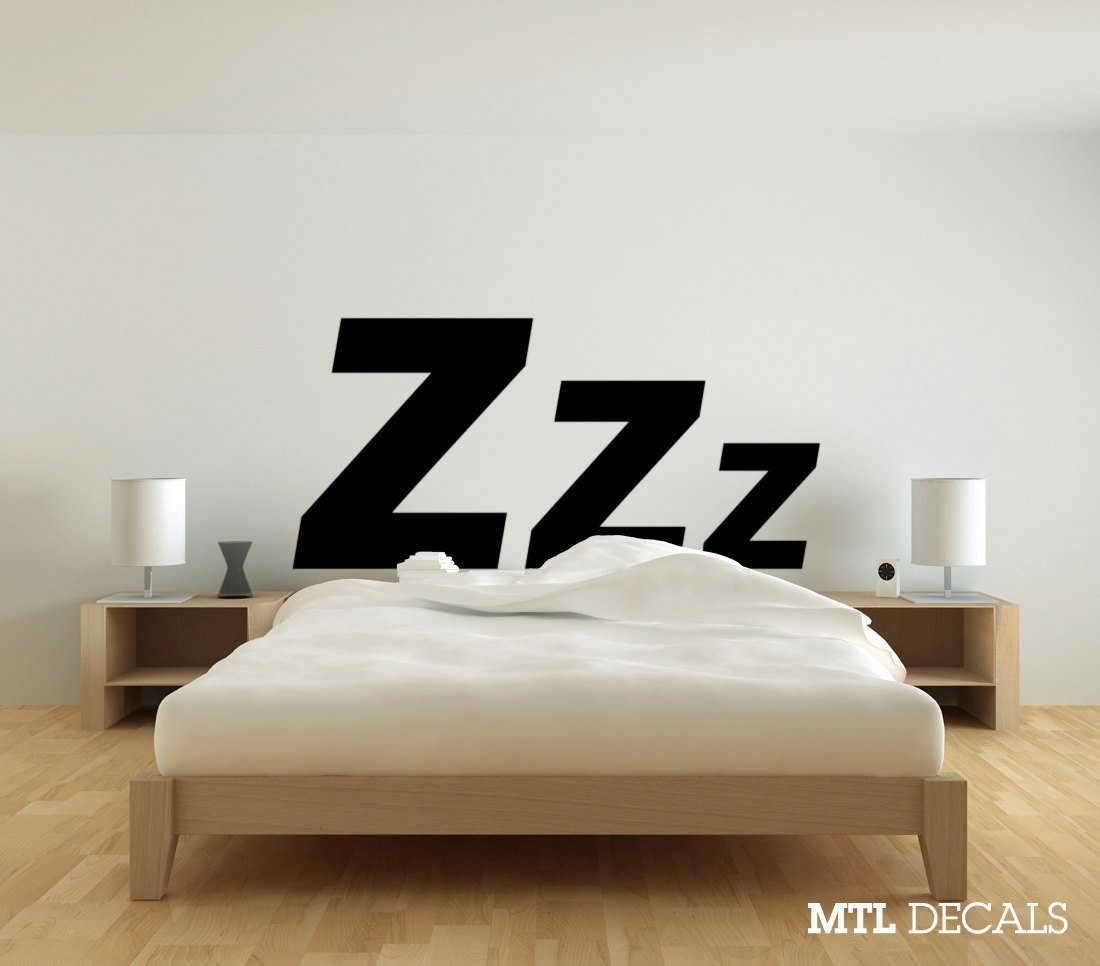 Best Zzz Bedroom Wall Decal 61 X 29 Wall Sticker Wall With Pictures
