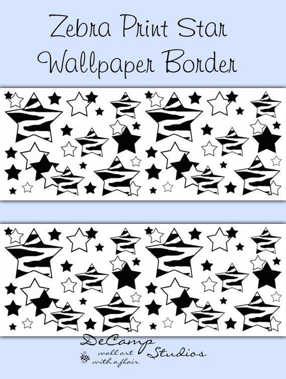 Best Zebra Star Wallpaper Border Wall Decals T**N Girl Boy Room With Pictures