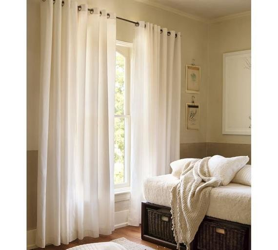 Best Pair White Or Ivory Curtains Panels Of 84 White By With Pictures
