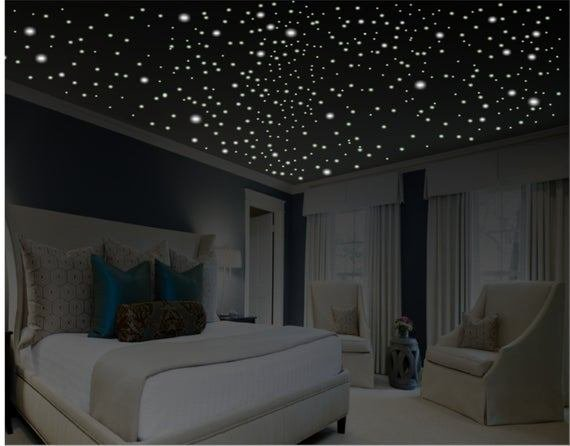 Best Glow In The Dark Stars Romantic Bedroom Decor By With Pictures