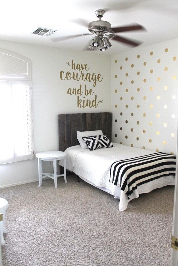 Best Gold Polka Dot Decals Gold Circle Decals Vinyl Gold With Pictures