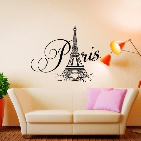 Best Paris Wall Decal Vinyl Lettering Paris Bedroom Decor Paris With Pictures