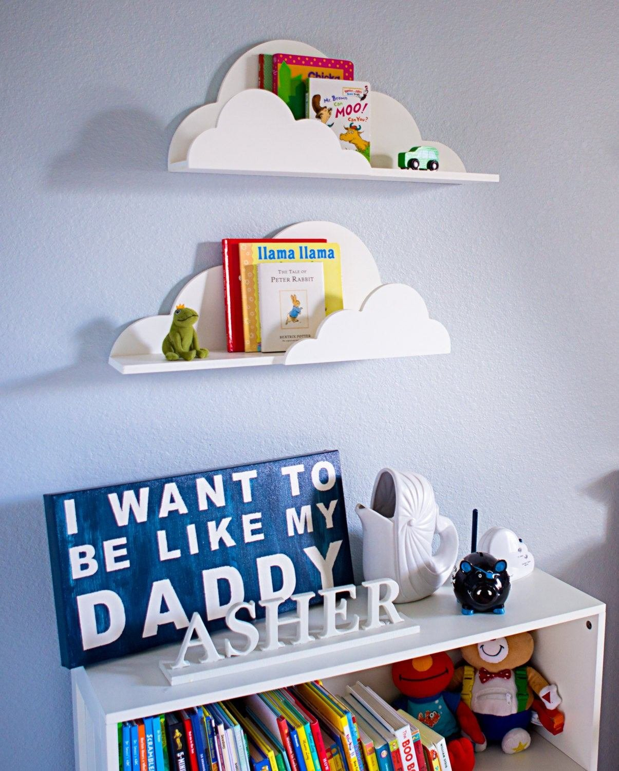 Best Cloud Shelf For Kids Room Baby Nursery Wall Decor Hanging With Pictures