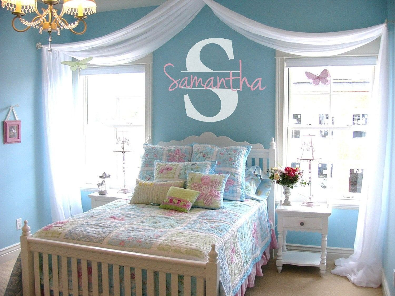 Best Personalized Name Initial Vinyl Wall Decal Sticker With Pictures