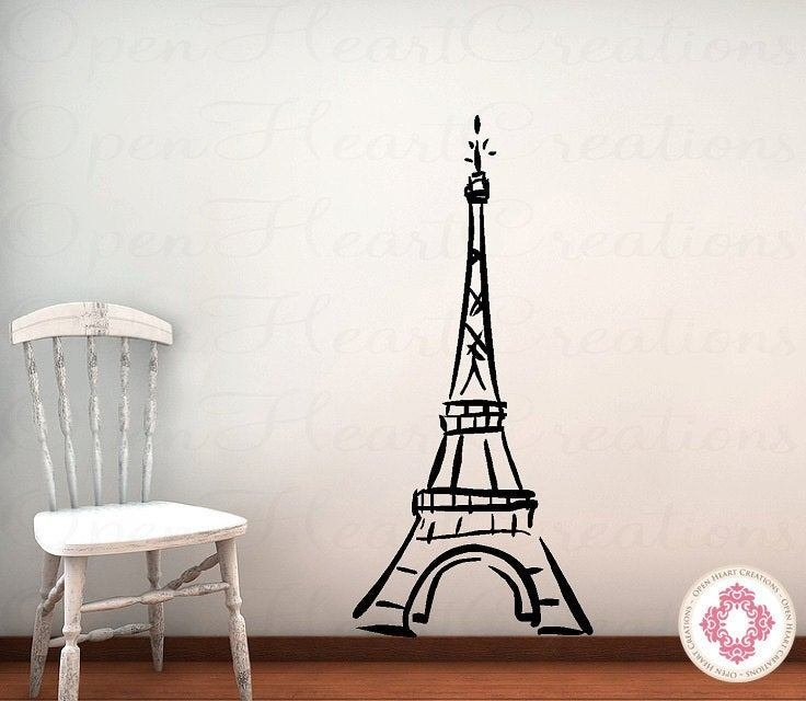 Best Eiffel Tower Vinyl Wall Decal Baby Nursery Girl T**N Bedroom With Pictures