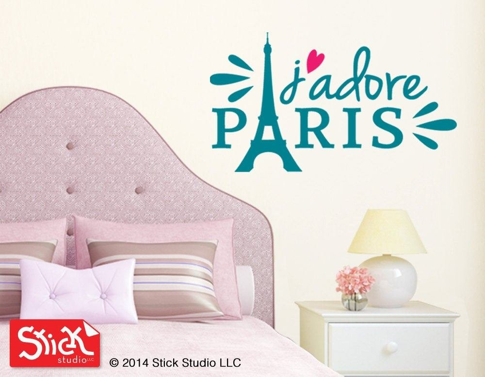 Best Girl S Room Wall Decal Paris Wall Sticker Eiffel Tower With Pictures