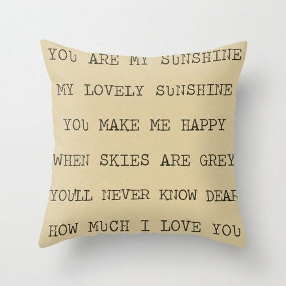 Best Items Similar To Pillow Cover You Are My Sunshine With Pictures