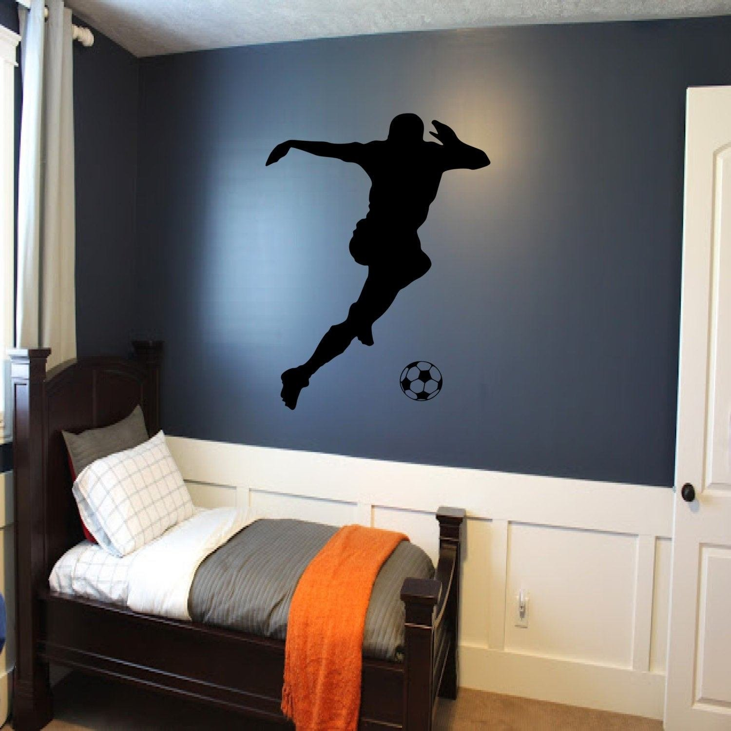 Best Soccer Player Wall Decal Soccer Wall Decor Sports Decal With Pictures