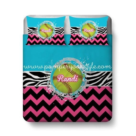 Best Softball Custom Bedding Chevron And Softball Bed With Pictures