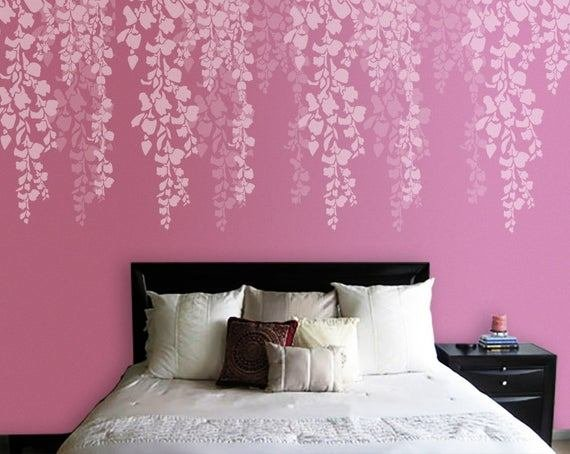 Best Tree Stencil Bedroom Wall Stencil Cherry Blossom Stencil With Pictures