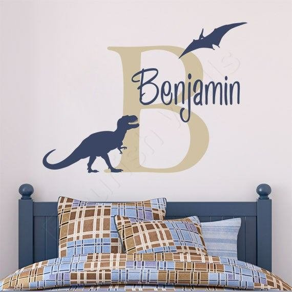 Best Boys Name Decal Personalized Dinosaur Wall Decal With Pictures