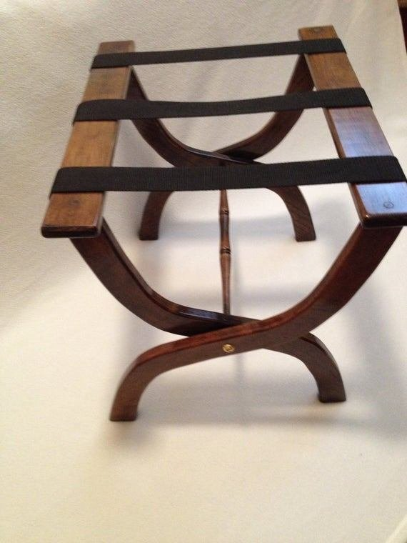 Best Guest Room Luggage Rack Hardwood Choice Of Webbing With Pictures