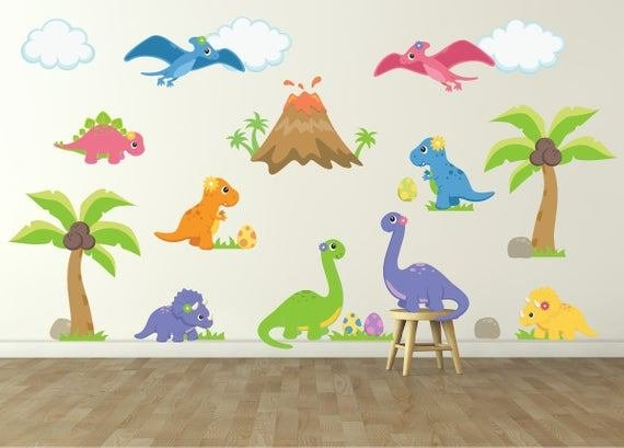 Best Dinosaur Wall Decal For Kids Bedroom Girls Dinosaur Room With Pictures