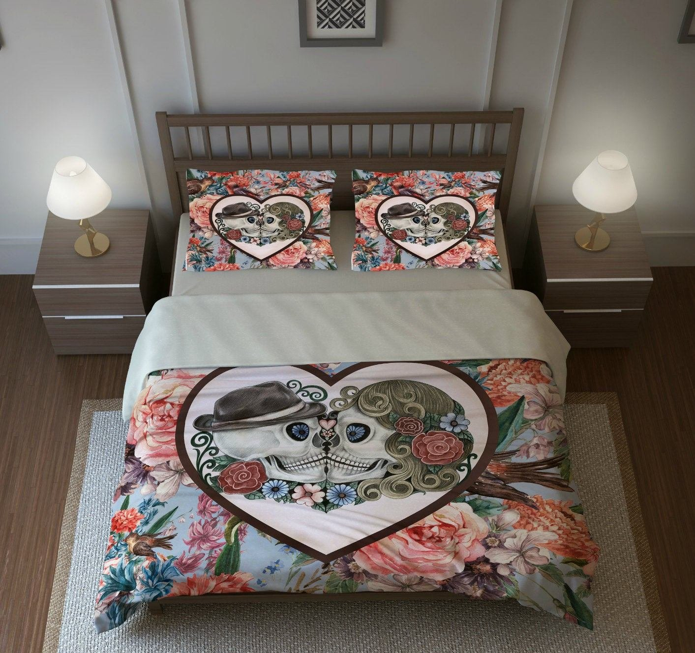 Best Skull Bedding Sugar Skulls Duvet Cover Set Forever With Pictures