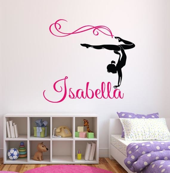 Best Gymnast Name Wall Decal Personalized Name Wall Decal With Pictures