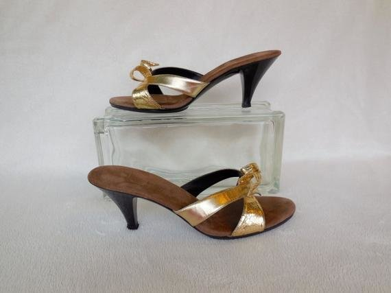 Best Boudoir Slippers Vintage Bedroom Slippers Gold High Heels Mad With Pictures