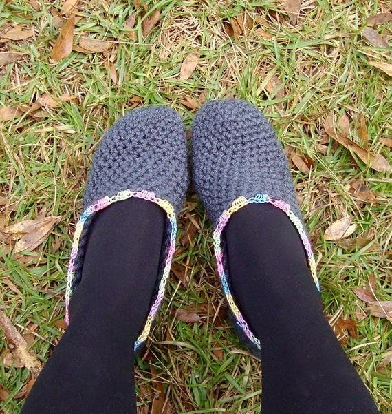 Best Items Similar To Crochet Rainbow Lace Bedroom Slippers On Etsy With Pictures