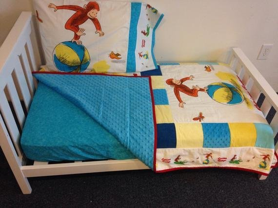 Best Vintage Curious George Fabric Boutique Crib Mini Crib Nursery With Pictures