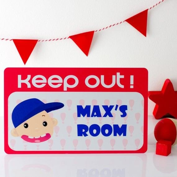Best Keep Out Sign Personalized Sign Kids Door Signs By Mirrorin With Pictures