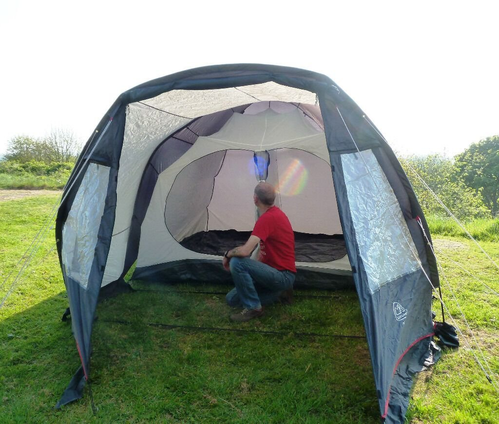 Best Eurohike Stowe Four Man Tent With Two Bedrooms In Church With Pictures