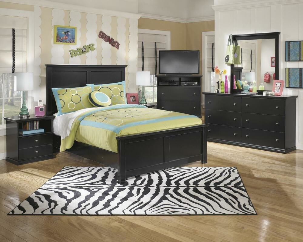 Best Ashley Maribel B138 Full Size Panel Bedroom Set 5Pcs In With Pictures