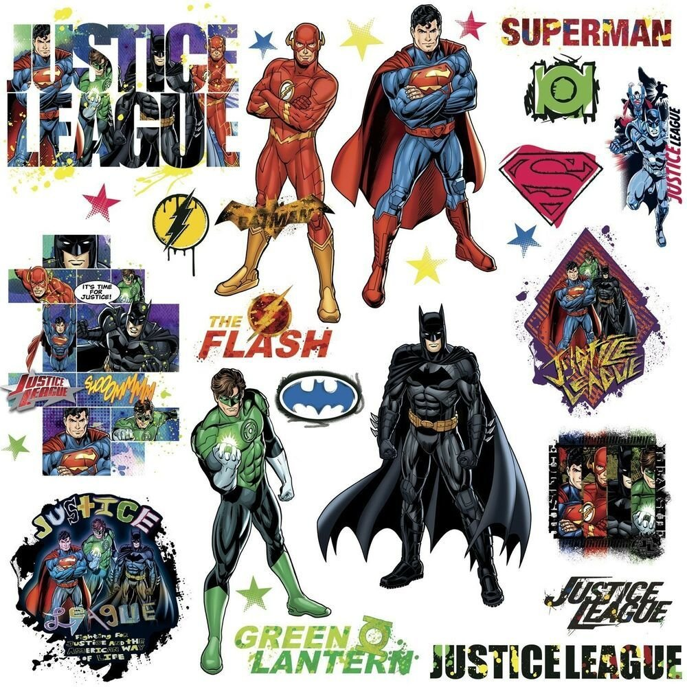 Best Justice League 28 Wall Decals Superman Batman Room Decor With Pictures