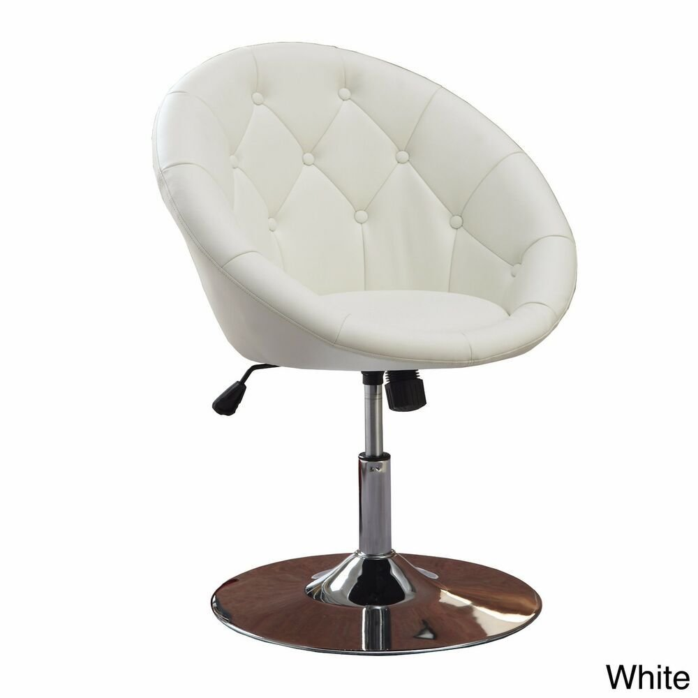 Best White Vanity Stool Swivel Chair Seat Bedroom Furniture With Pictures