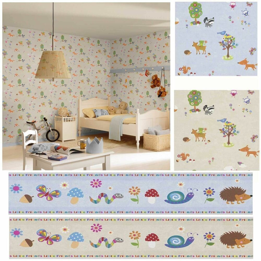 Best Woodland Animals Wallpaper Borders Bedroom Nursery With Pictures