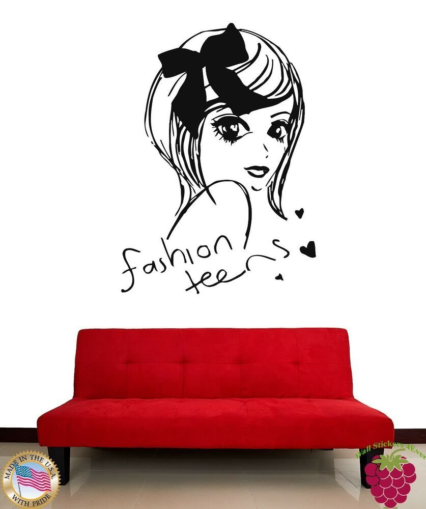 Best Wall Stickers Beautiful Girl T**N Fashion Teens Cool Decor For You Z1894 682017256542 Ebay With Pictures