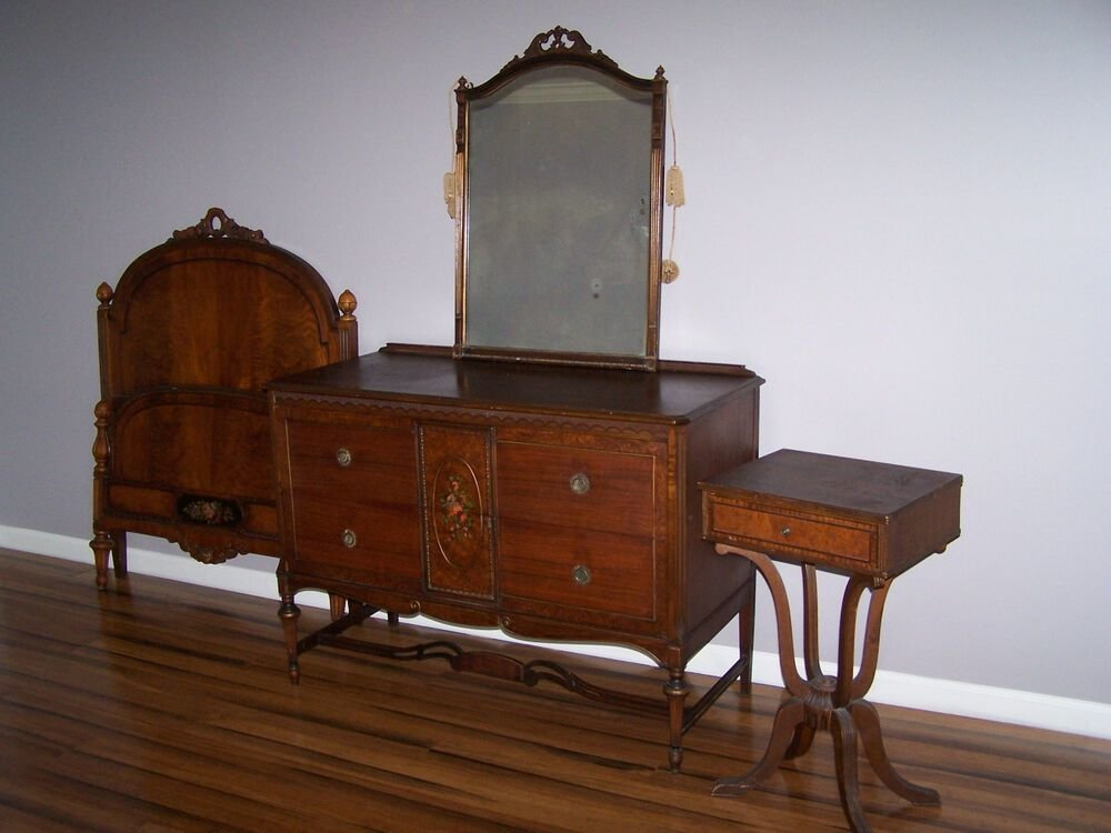 Best Paine Furniture Antique Bedroom Set Ebay With Pictures