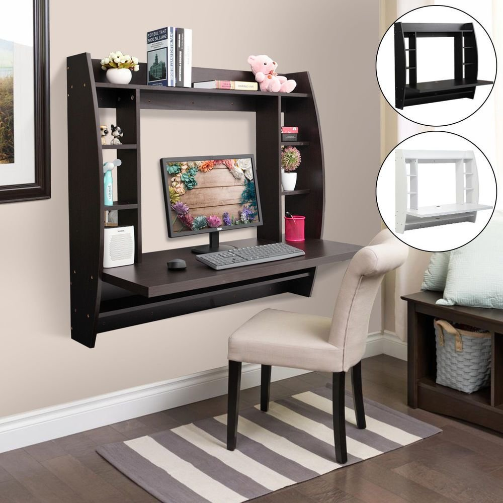 Best Computer Table Floating Wall Mount Desk With Storage With Pictures