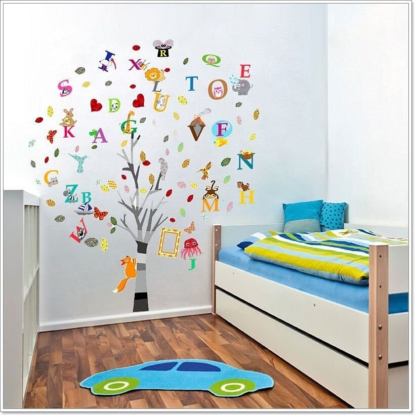 Best Combo Education Alphabet Animal Tree Wall Stickers With Pictures