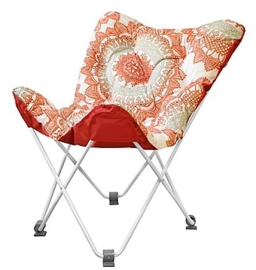 Best Tufted Folding Butterfly Chair Bungalow Comfortable Dorm With Pictures