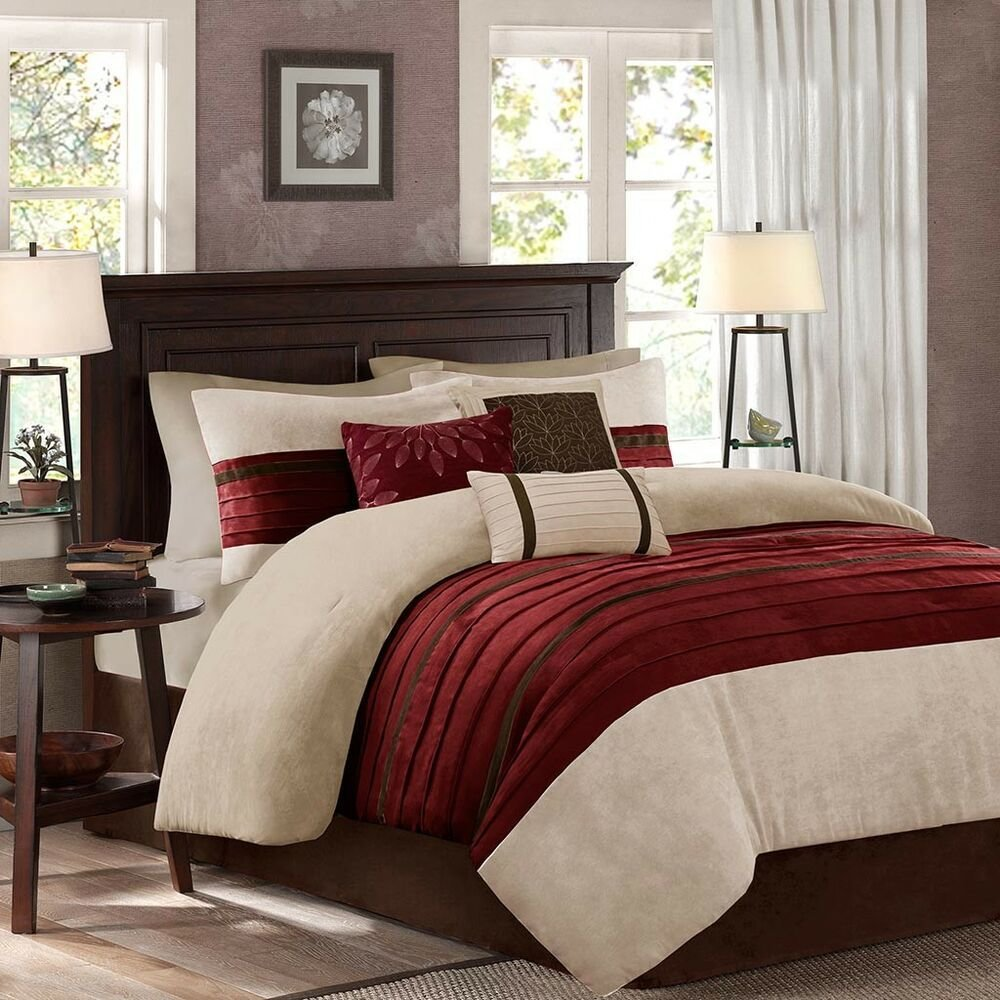 Best Beautiful Modern Ultra Soft Deep Red Brown Beige Pintuck With Pictures