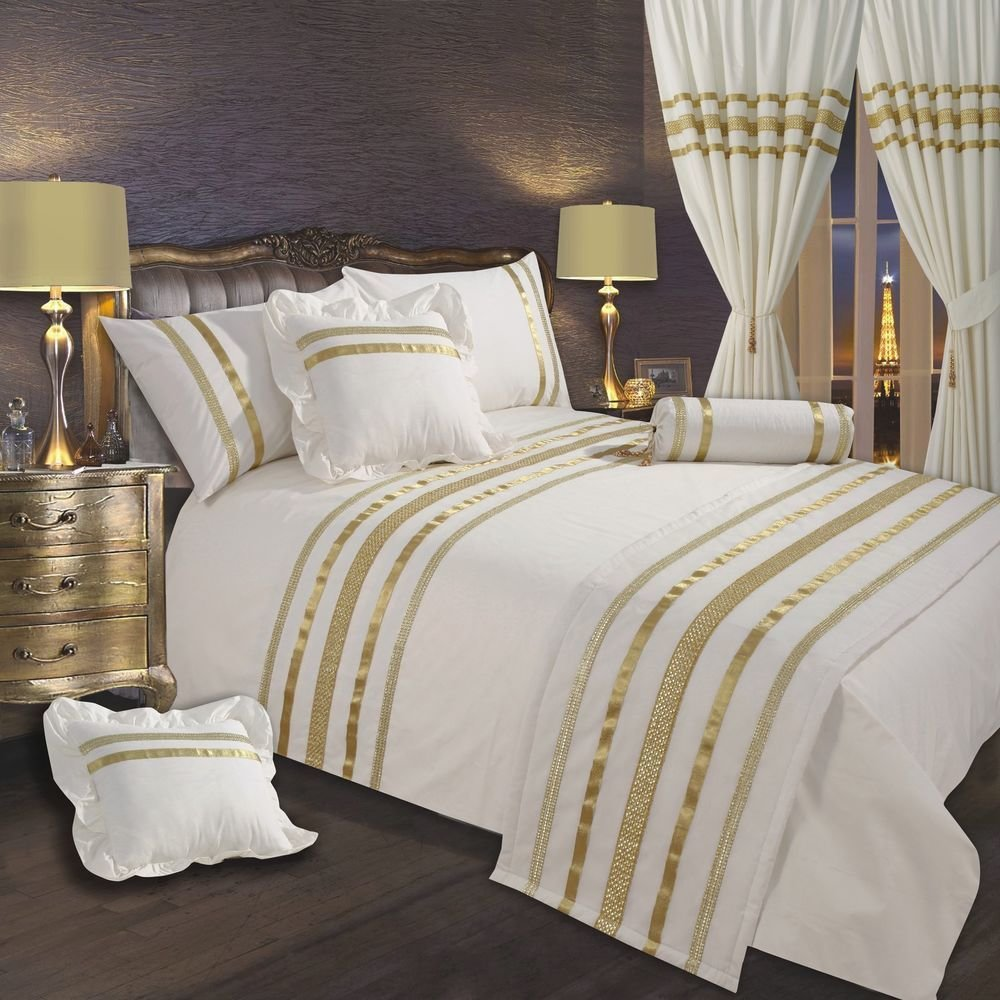Best Cream Off White Gold Ribbon 200 Thread Count Cotton With Pictures