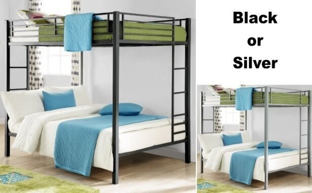 Best Full Over Full Size Metal Bunk Bed Beds Heavy Duty Sturdy With Pictures