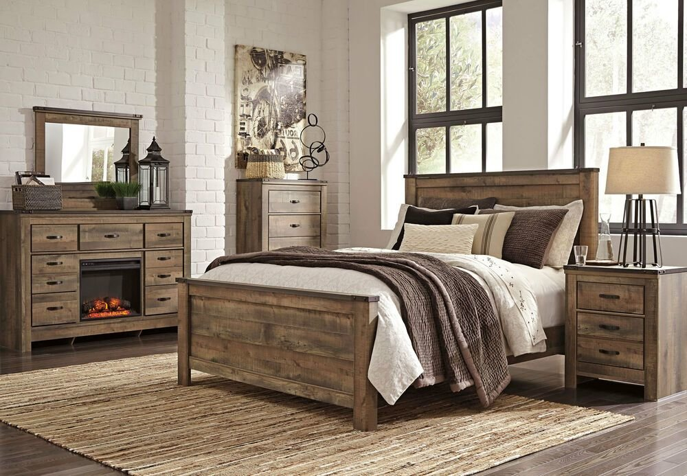 Best Ashley Furniture B446 Trinell Modern Queen Or King Panel Bed Frame Bedroom Set Ebay With Pictures